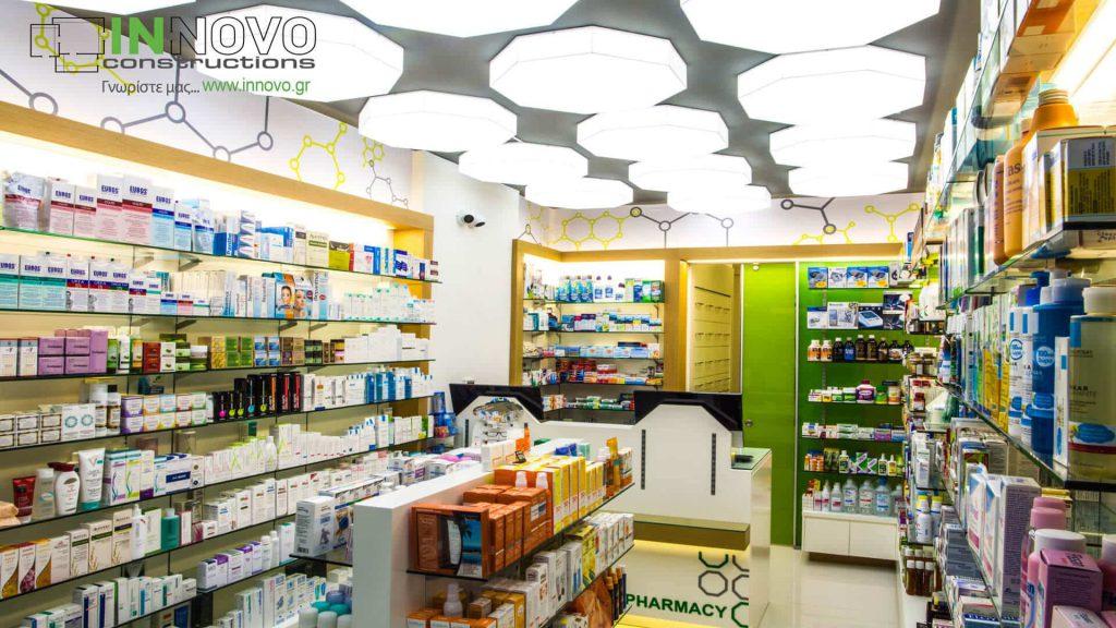 Ανακαίνιση φαρμακείου Γλυφάδα