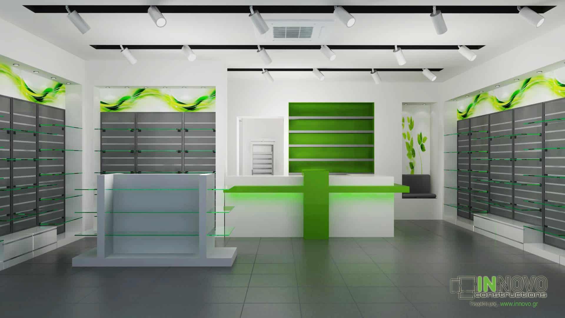 Σχεδιασμός ανακαίνισης φαρμακείου στο Μοσχάτο