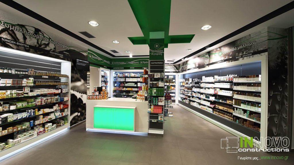 Κατασκευή Φαρμακείου στα Μέγαρα από την Innovo Constructions