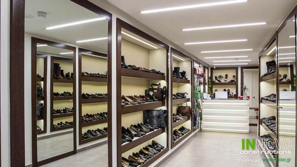 Ανακαίνιση καταστήματος με παπούτσια στους Αμπελόκηπους