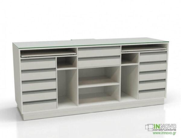 2009 Πάγκος Ταμείου R-Aktis back drawers