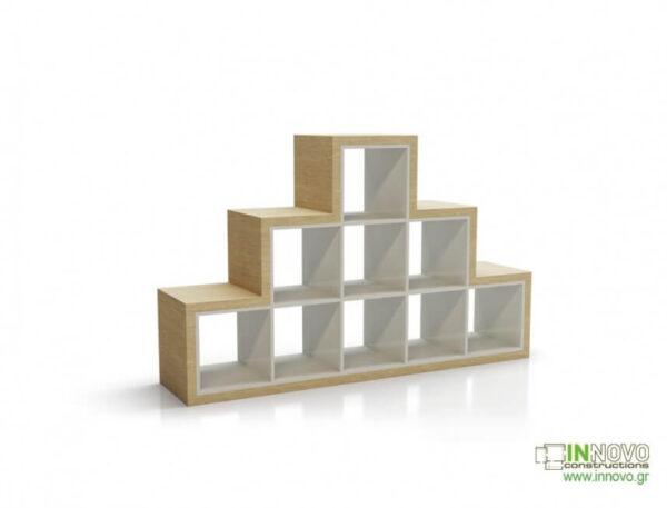 Βιτρίνα τζαμαρίας Cubes A wood