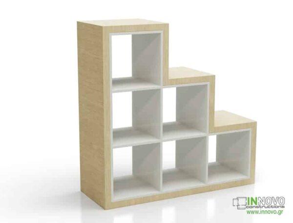 Βιτρίνα τζαμαρίας B Cubes B wood