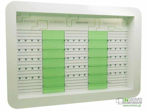 Βιτρίνες φαρμακείων D Elikon green