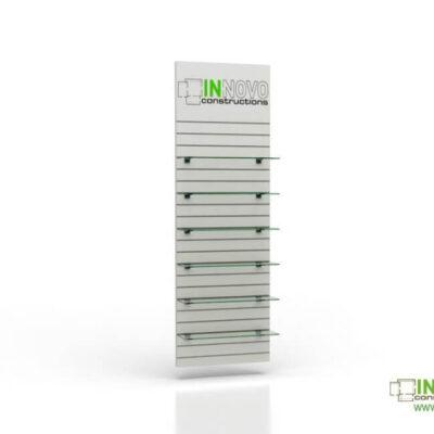 Βιτρίνα φαρμακείου D-Standard-Slat-Graphic