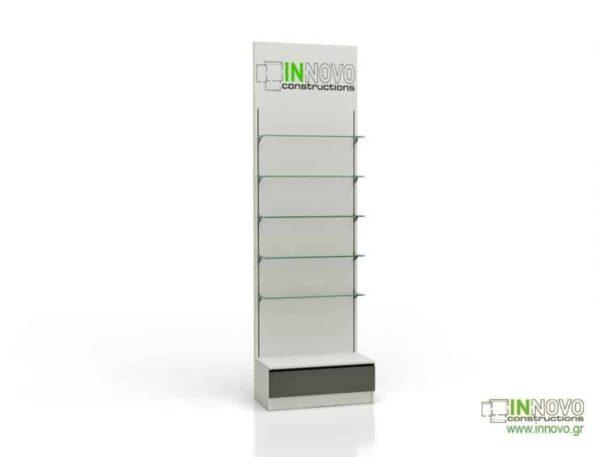 6041 Βιτρίνα φαρμακείου D-Standard Column single box with graphic