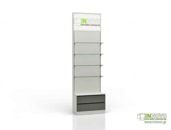 Βιτρίνα φαρμακείου D Standard column double box light