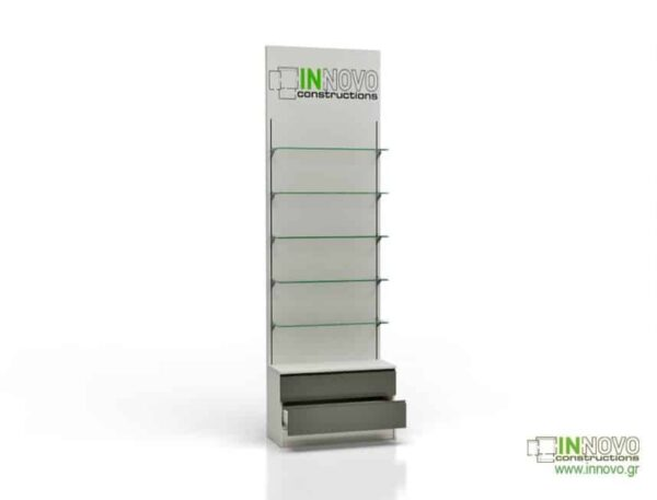 6044 Bιτρίνα φαρμακείου D-Standard Column double box and graphic