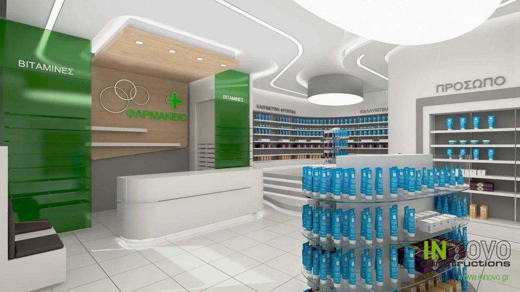 Μελέτη ανακαίνισης φαρμακείου στην Ελευσίνα από την Constructions