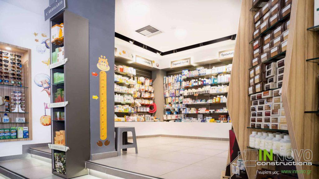 Περιστέρι, ανακαίνιση και διακόσμηση φαρμακείου