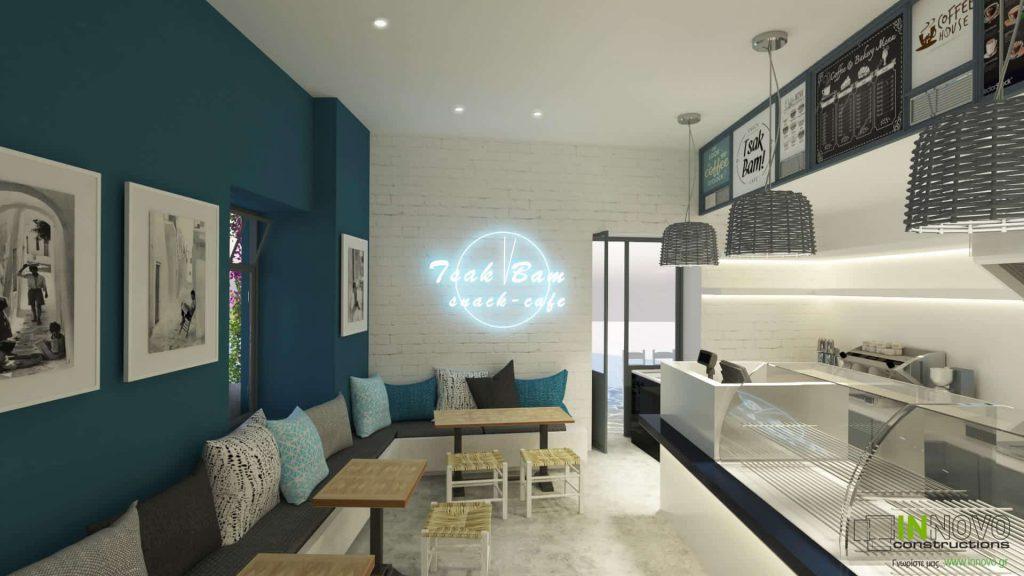 Σχεδιαστική πρόταση Σνακ καφέ στη Νάξο