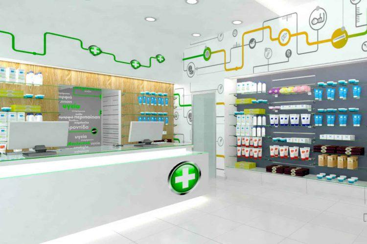 Μελέτη επίπλωσης φαρμακείου, Αθήνα
