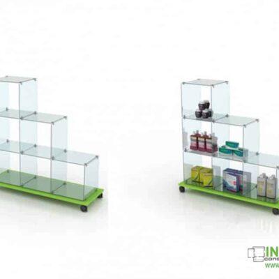 5036 Βιτρίνα τζαμαρίας Glass Cubes