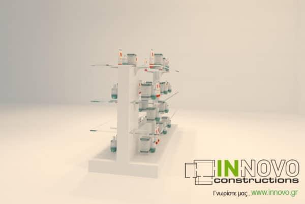 Γόνδολα φαρμακείου G-Niki απο την Innovo Constructions
